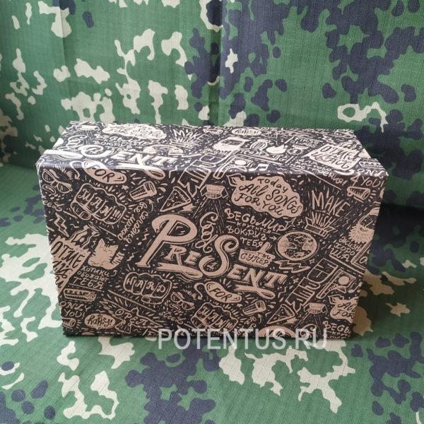 Подарочная коробка 22 х 14 х 8.5 см для мужского подарка продажа