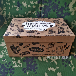 Подарочная коробка Брутальность «Что-то очень крутое» 28 х 18.5 х 11.5 см купить недорого