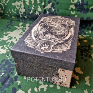 Подарочная коробка Брутальность Russian Bear 24 х 15.5 х 9.5 см купить дешево