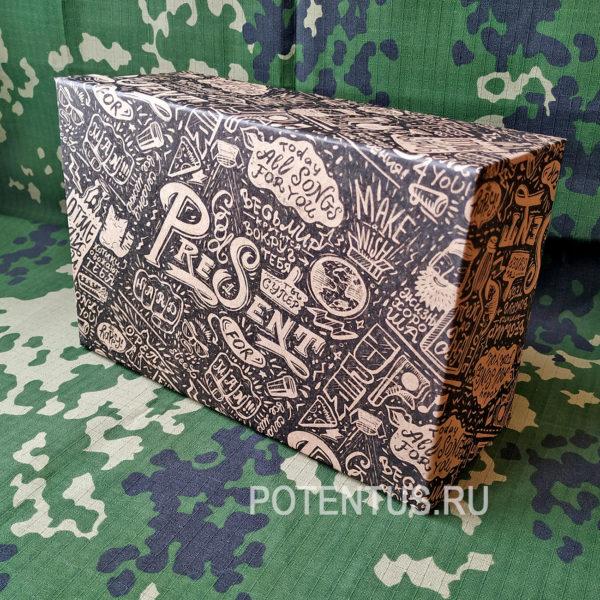 Коробка для мужского подарка с принтом купить