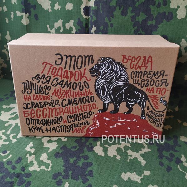 Купить подарочную коробку «Брутальность — Подарок для льва»