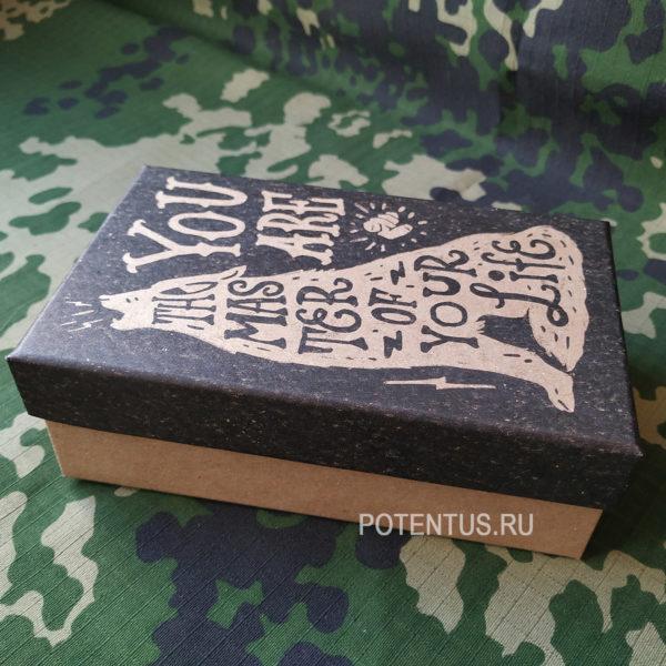 Маленькая мужская подарочная коробка из картона